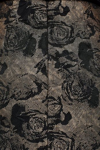 ESPRIT COLLECTION Schimmernder Rock mit Jacquard-Blüten