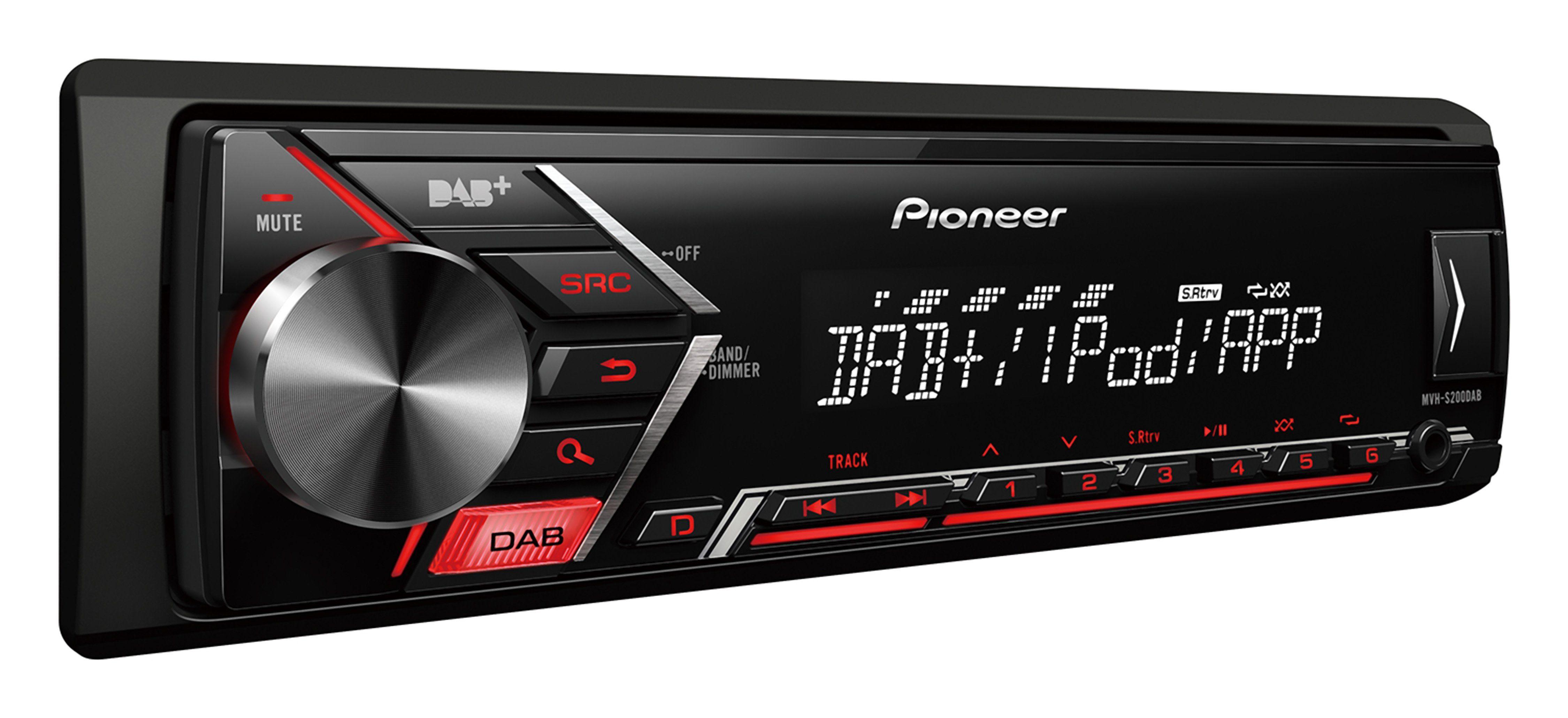 PIONEER 1-DIN Autoradio mit UKW, DAB+ Radio / USB & AUX-Eingang »MVH-S200DAB«