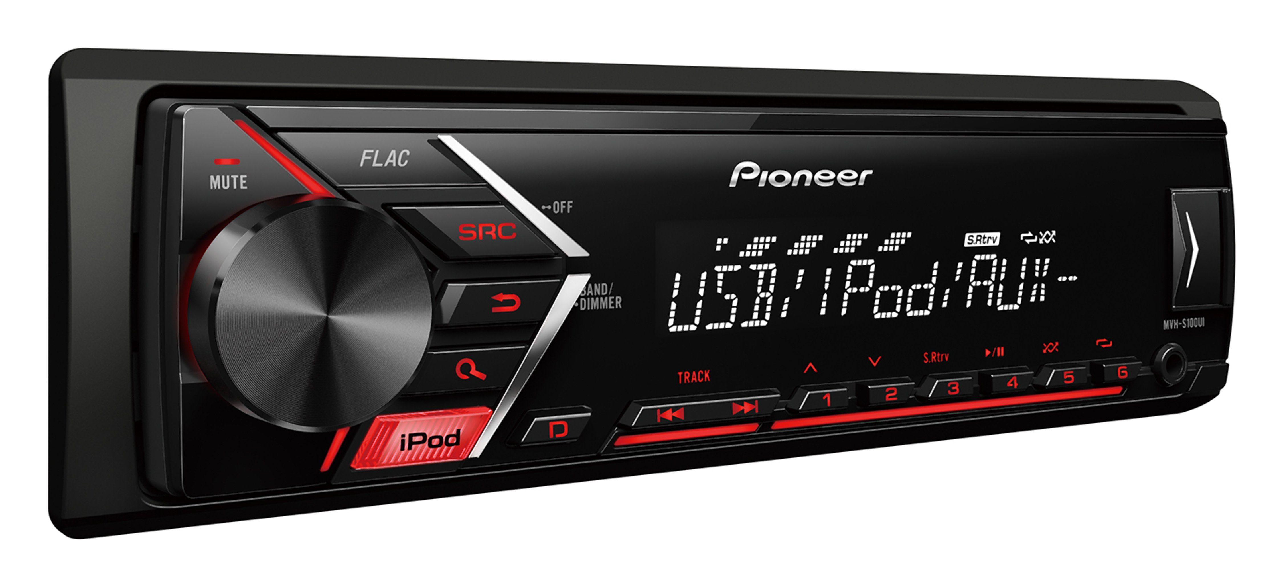 PIONEER 1-DIN Autoradio mit RDS, USB, AUX / iPhone-Direktsteuerung »MVH-S100UI«
