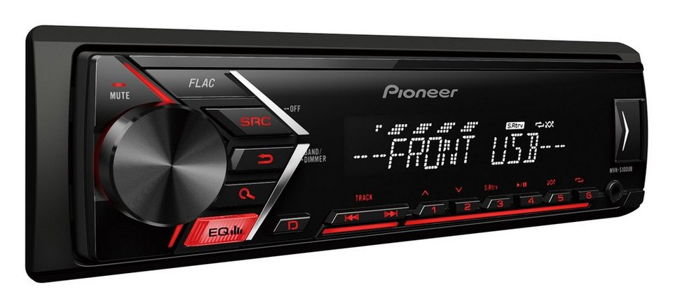 pioneer 1 din autoradio mit usb mp3 aux in mvh s100ub. Black Bedroom Furniture Sets. Home Design Ideas