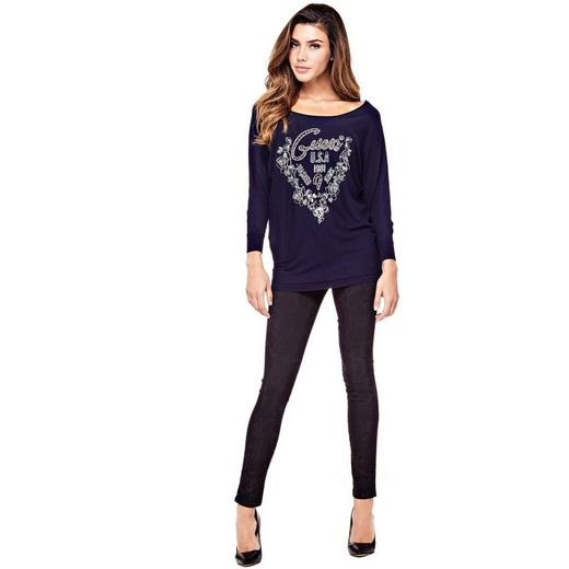 Guess Pullover Print Mit Logo