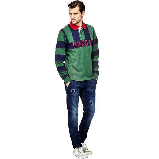 Guess Polo Shirt Stripe Pattern