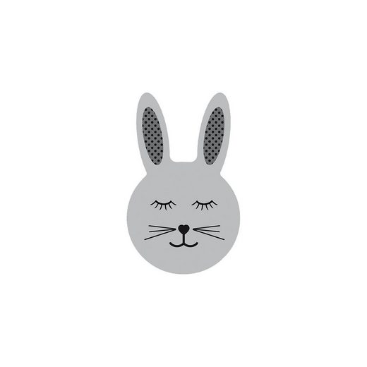 Kinderteppich Ultrasoft Hase, grau, 60 x 100 cm