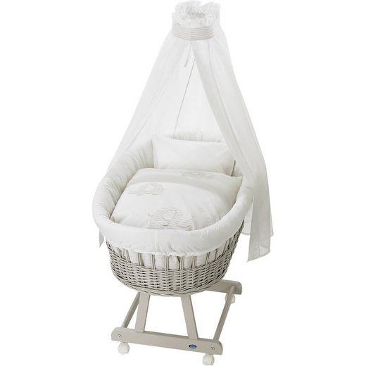 Alvi® Stubenwagenset für Stubenwagen Birthe, Streifenfant