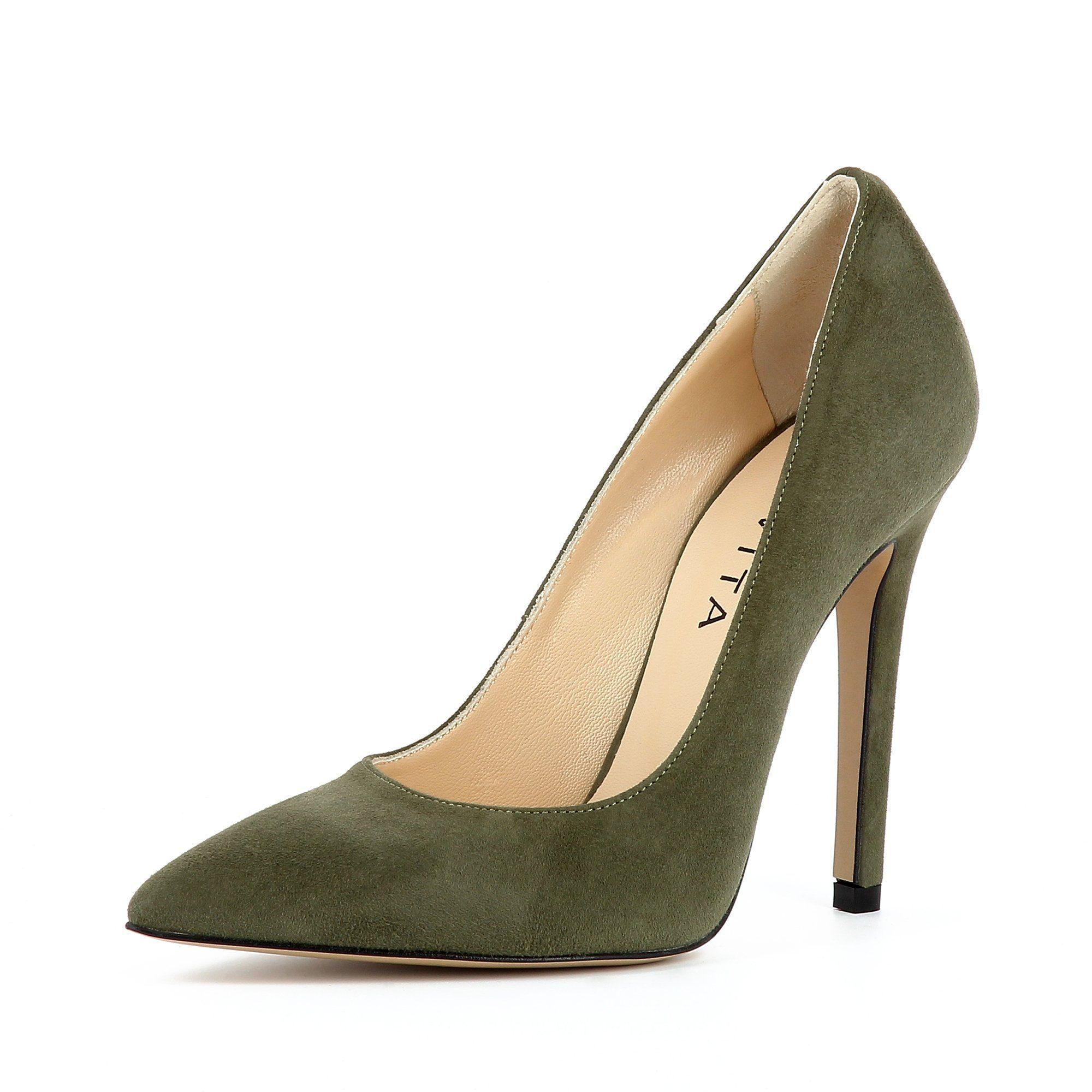Evita »LISA« Pumps, grün, dunkelgrün