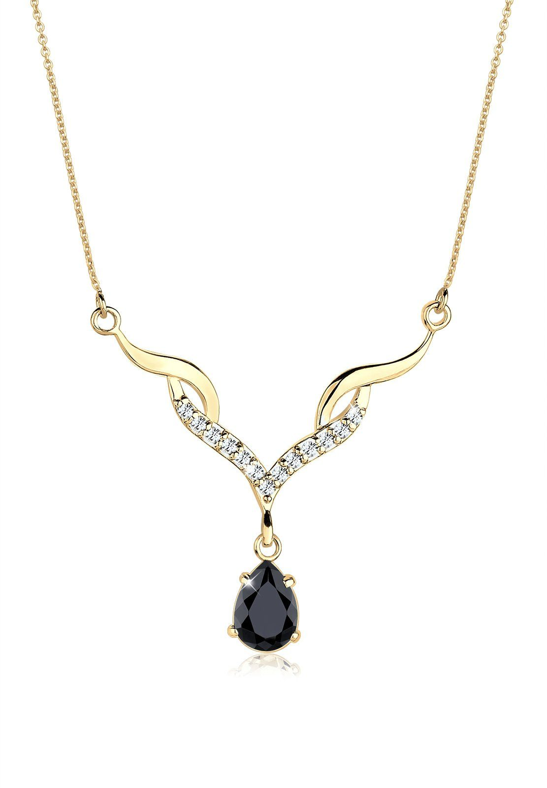 Goldhimmel Halskette »Collier Swarovski® Kristalle 925 Sterling Silber«