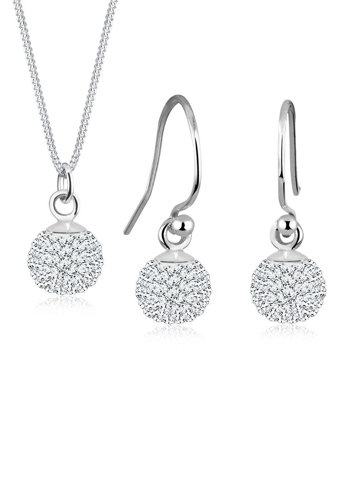 Elli Set: Schmuckset »Kugel Swarovski® Kristalle 925 Sterling Silber« 2 tlg.