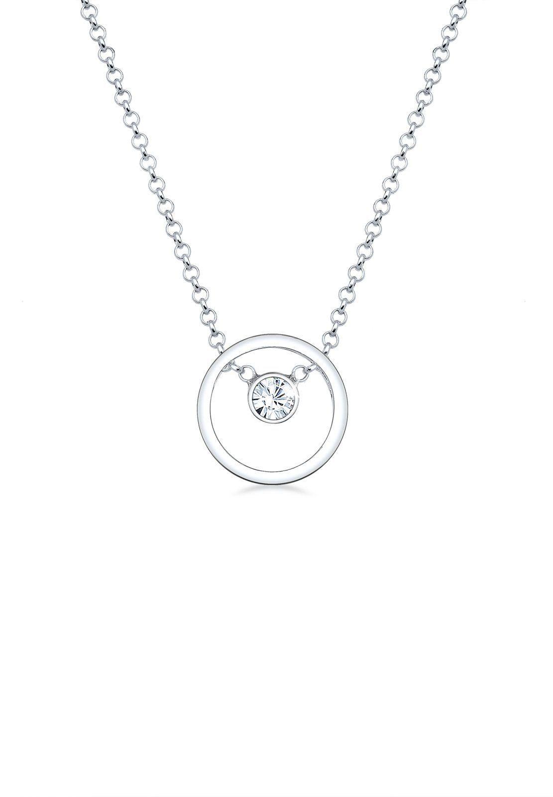 Elli Halskette »Kreis Swarovski® Kristalle 925 Sterling Silber«