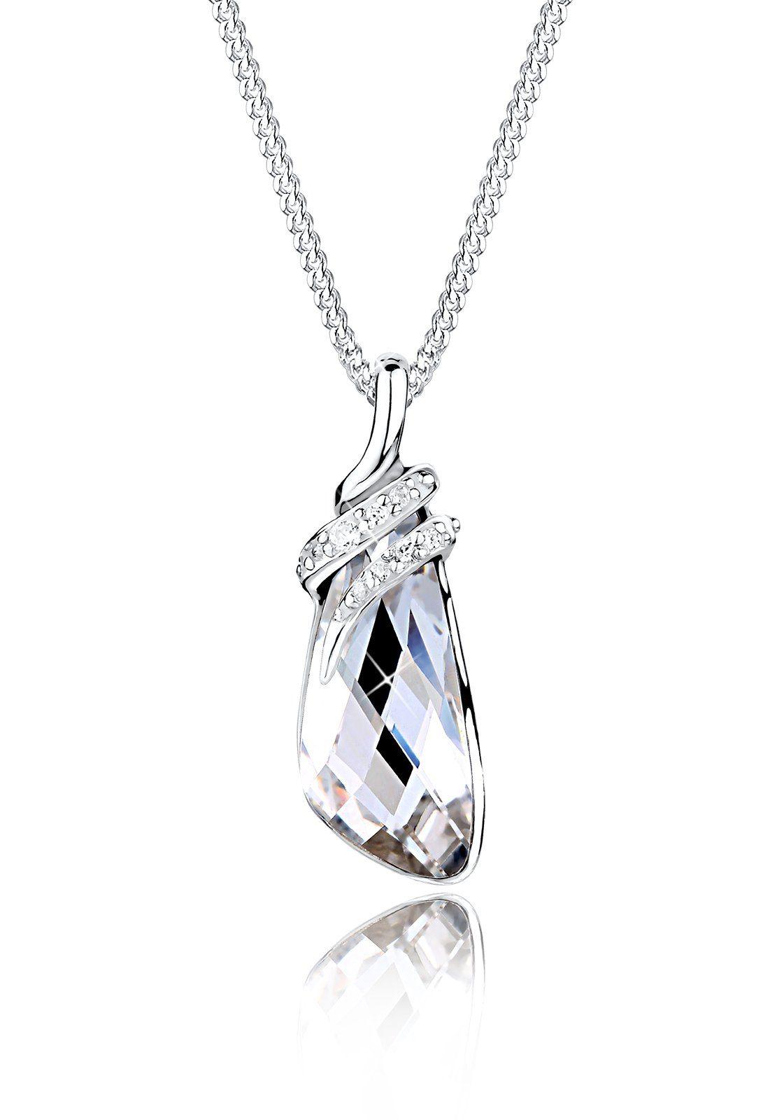 Elli Halskette »Tropfen Swarovski Kristalle 925 Sterling Silber S«