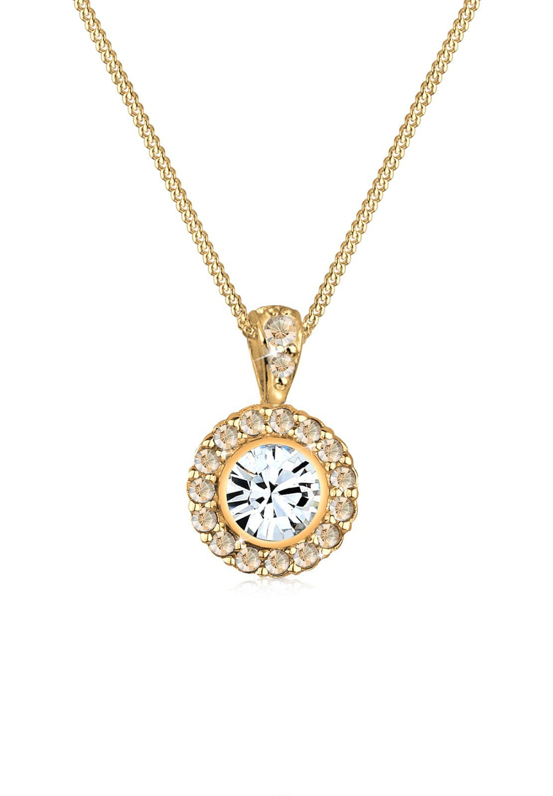 Goldhimmel Halskette »Blüte Swarovski® Kristalle 925 Sterling Silber«