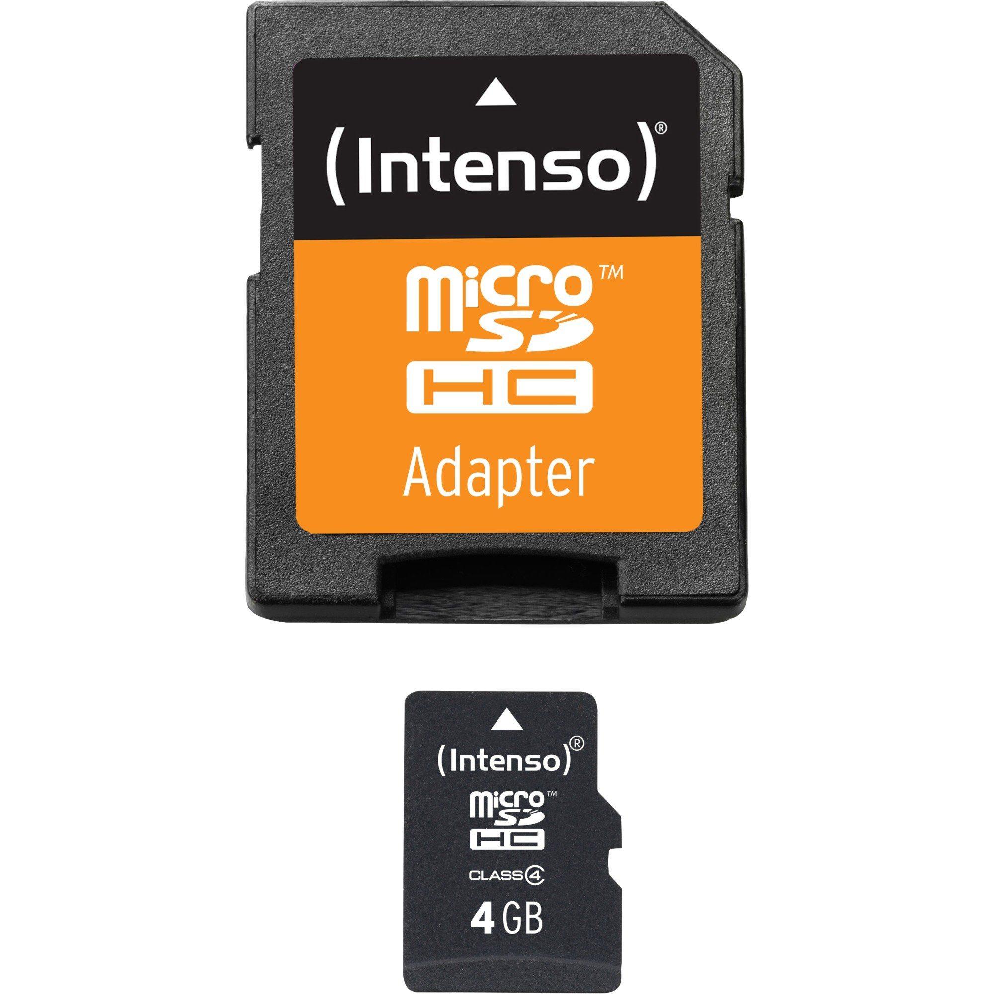 Intenso Speicherkarte »microSDHC 4 GB«