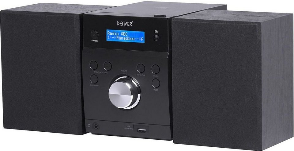 denver radio mda 240 microanlage mit dab bluetooth cd. Black Bedroom Furniture Sets. Home Design Ideas