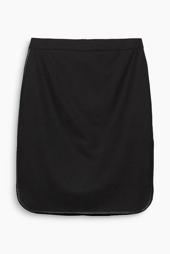 Esprit Pencil Skirt With Piping In Leather Optics