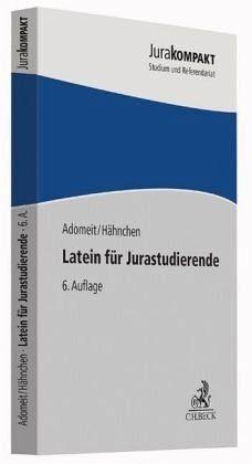 Broschiertes Buch »Latein für Jurastudierende«
