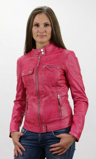 Freaky Nation Lederjacke Pink!