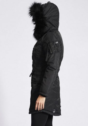 Khujo Winter Coat Hall With Detachable Faux Fur On The Hood
