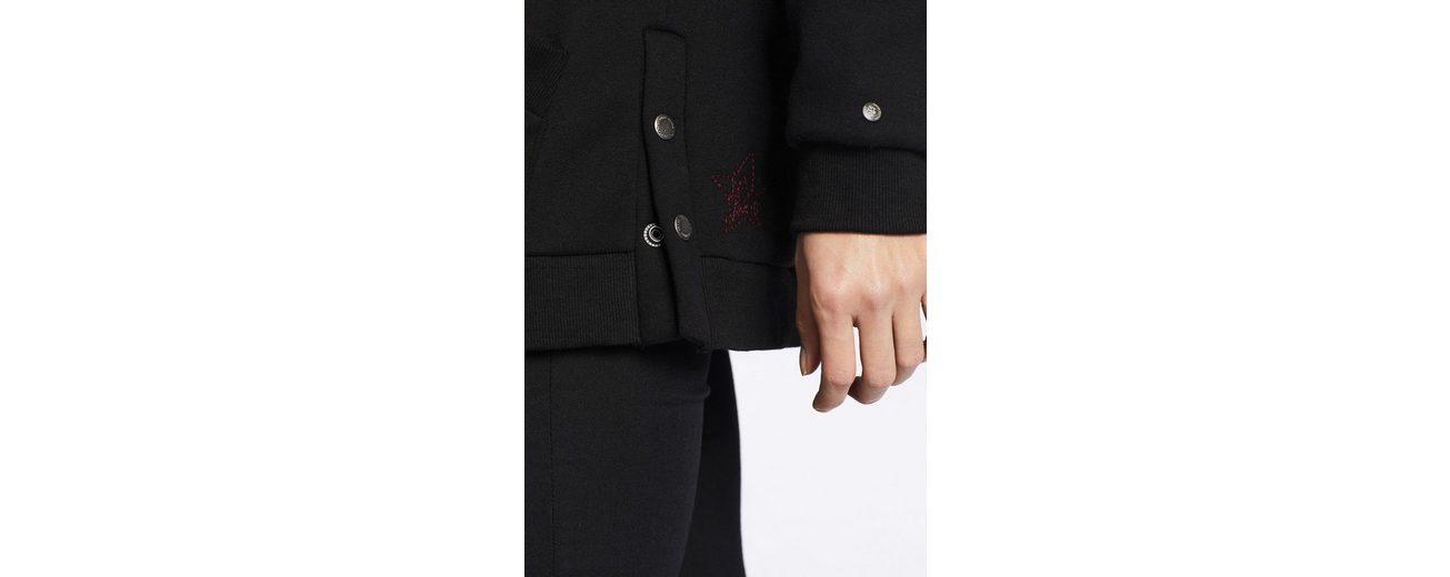 khujo Longsweatshirt LUNGIA, mit seitlichen Druckknopfleisten