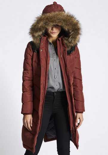 Khujo Quilted Coat Lubeck Long, With Detachable Hood