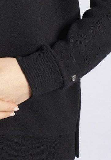 khujo Sweatshirt MARITA, mit seitlichen Knopfleisten