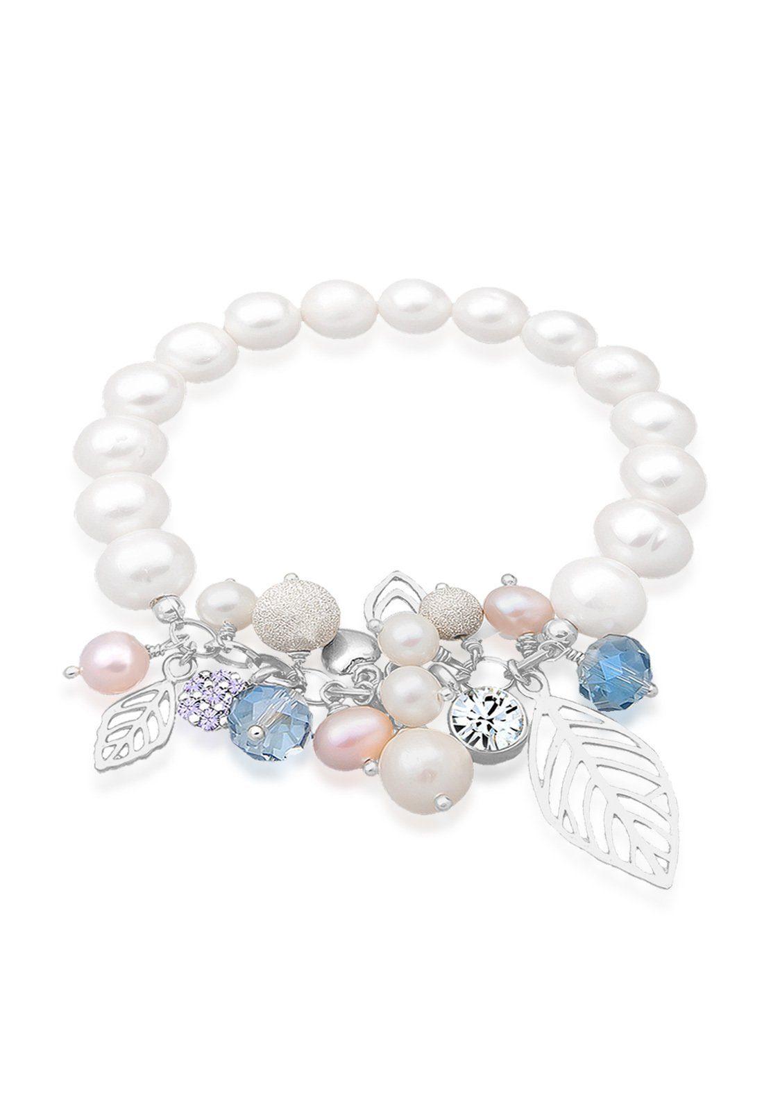 Elli Armband »Swasserzuchtperlen Swarovski Kristall 925 Silber«