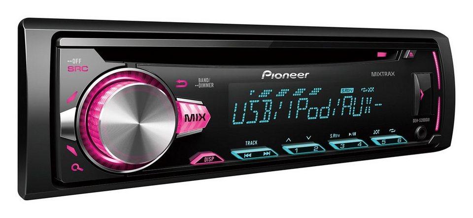 pioneer 1 din autoradio mit cd usb aux und spotify. Black Bedroom Furniture Sets. Home Design Ideas