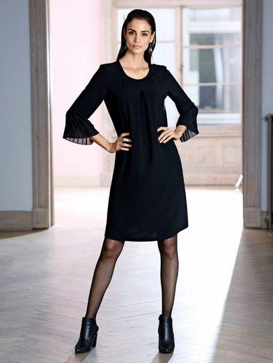 Amy Vermont Kleid mit Plisseebesatz am Ärmel