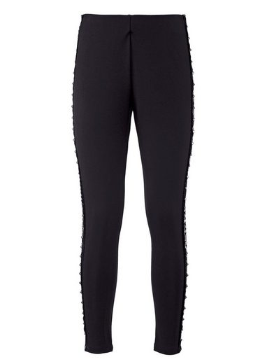 Amy Vermont Leggings mit seitlicher Applikation