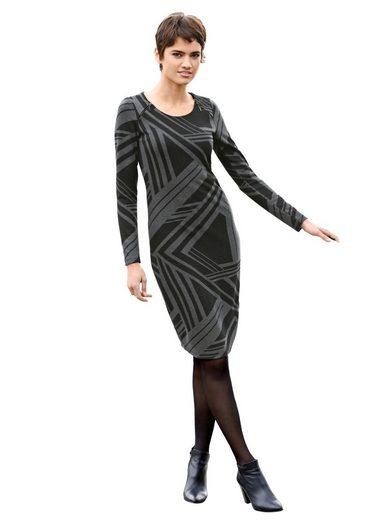 Amy Vermont Jerseykleid in graphischem Muster
