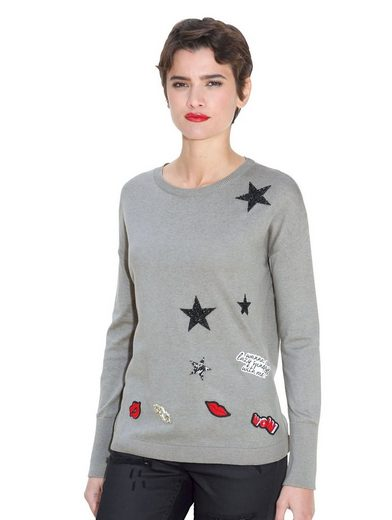 Amy Vermont Pullover mit Patches