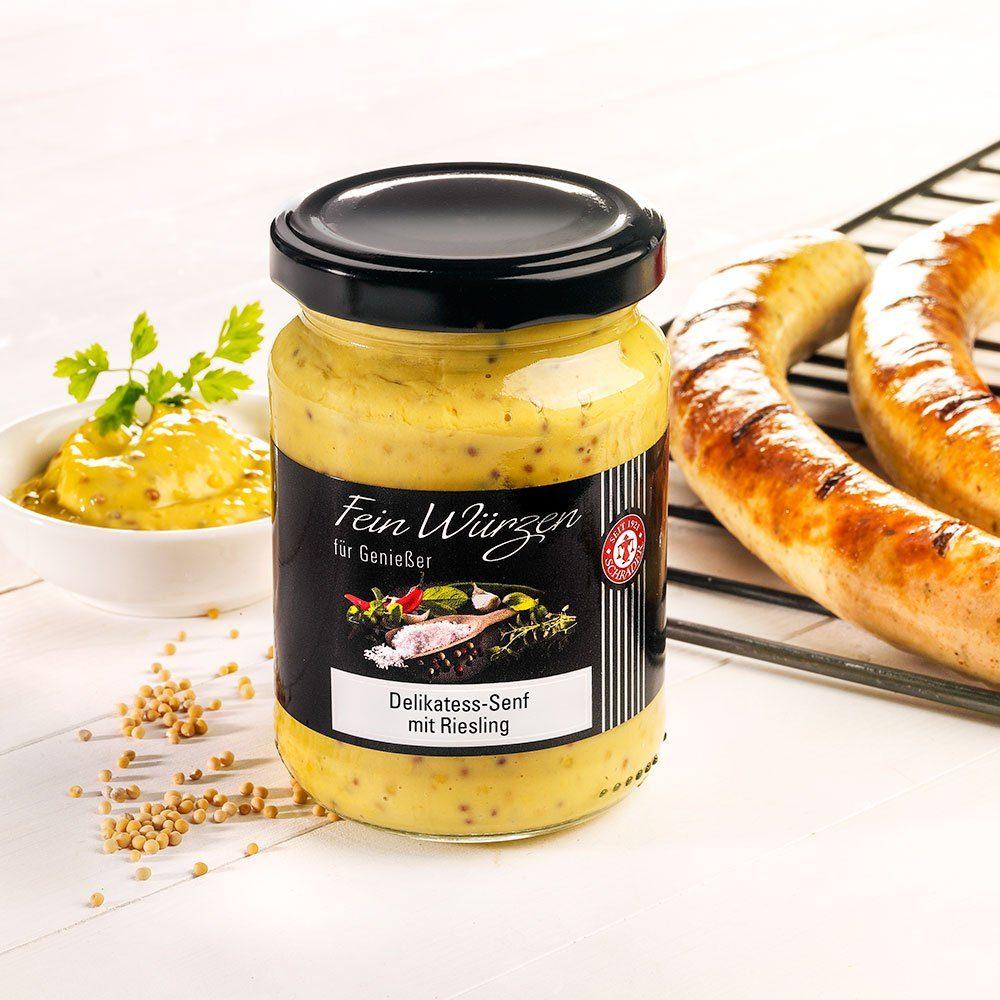 Schrader Delikatess-Senf mit Riesling