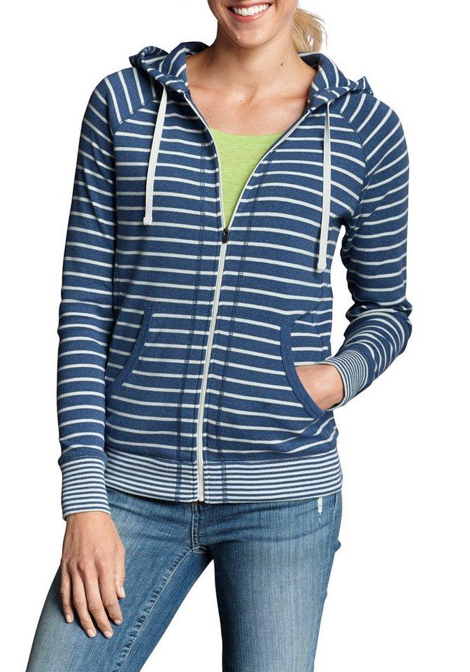 Damen Eddie Bauer  Sweatshirt Legend Wash Hoodie – Gestreift blau | 04057682160658