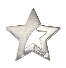 Firetti Anhänger »925/- Sterling Silber rhod Zirkonia Stern«