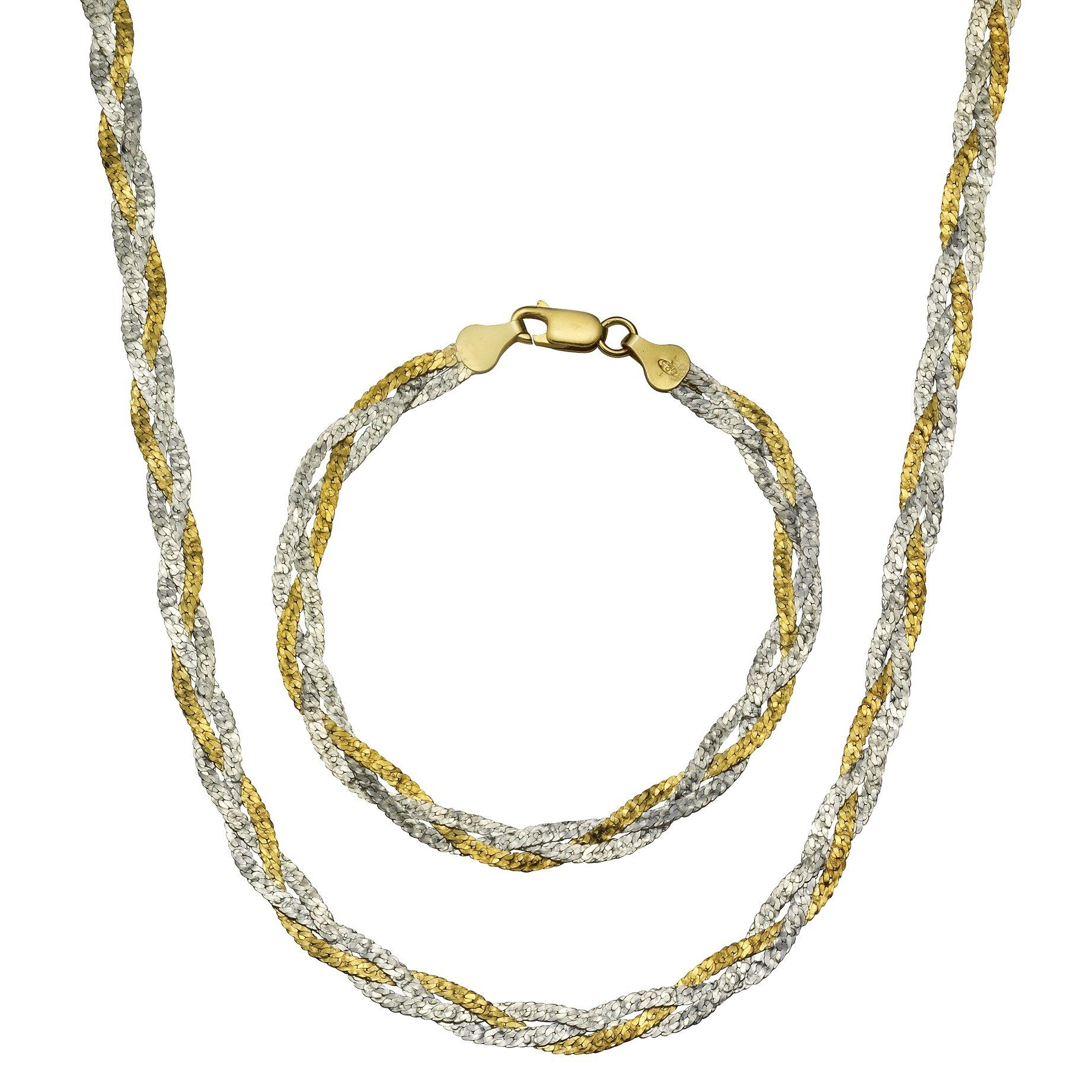 Firetti Armband »925/- Sterling Silber bicolor 19cm«