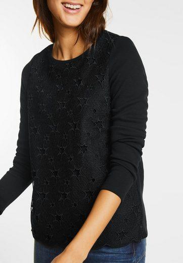 Street One Sweatshirt mit Sternen Layer