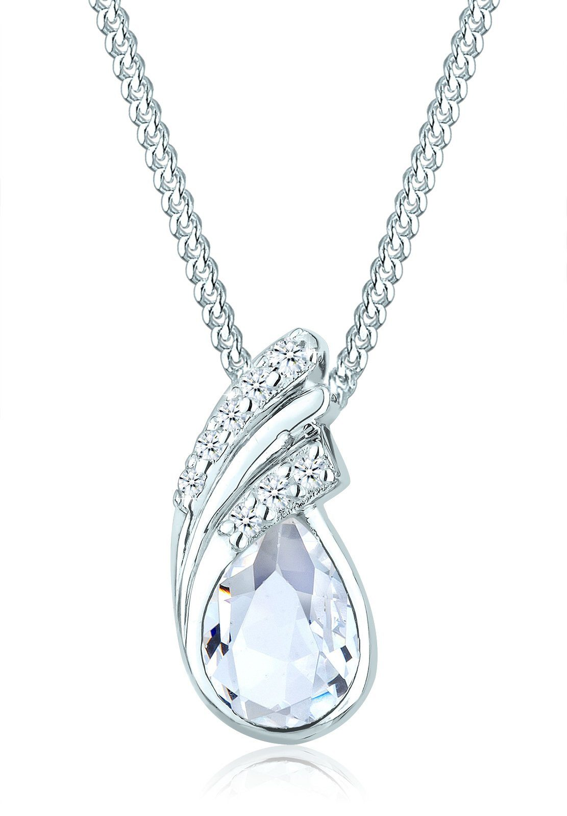Elli Halskette »925 Sterling Silber Tropfen Swarovski Kristalle«