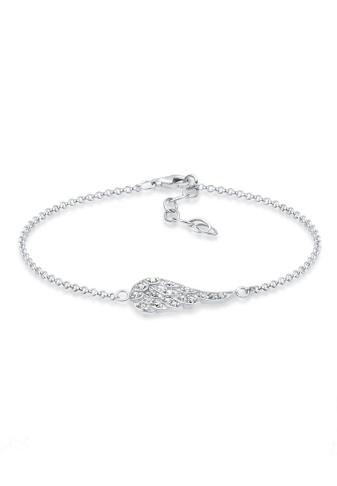 Elli Armband »Flügel Swarovski Kristalle 925 Sterling Silber«