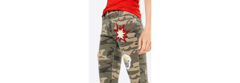 Miss Goodlife Slim-fit-Jeans Camouflage & Patches Freies Verschiffen Für Nette Billig Verkauf Suchen Spielraum Zahlung Mit Visa Rabatt Hohe Qualität kVcUt3