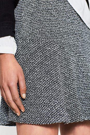 EDC BY ESPRIT Asymmetrischer Rock mit Tweed