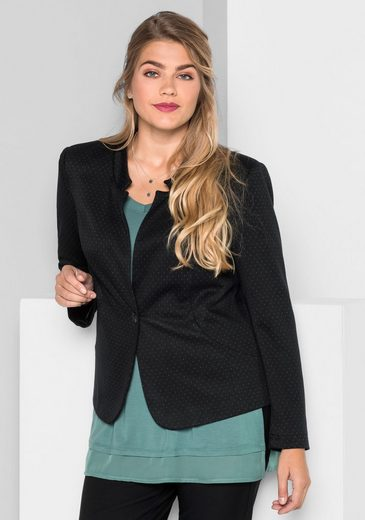 sheego Style Kurzblazer, mit Wollanteil