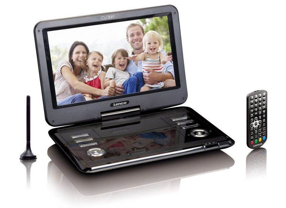 lenco tragbarer 11 6 zoll dvd player mit dvb t2 usb sd. Black Bedroom Furniture Sets. Home Design Ideas