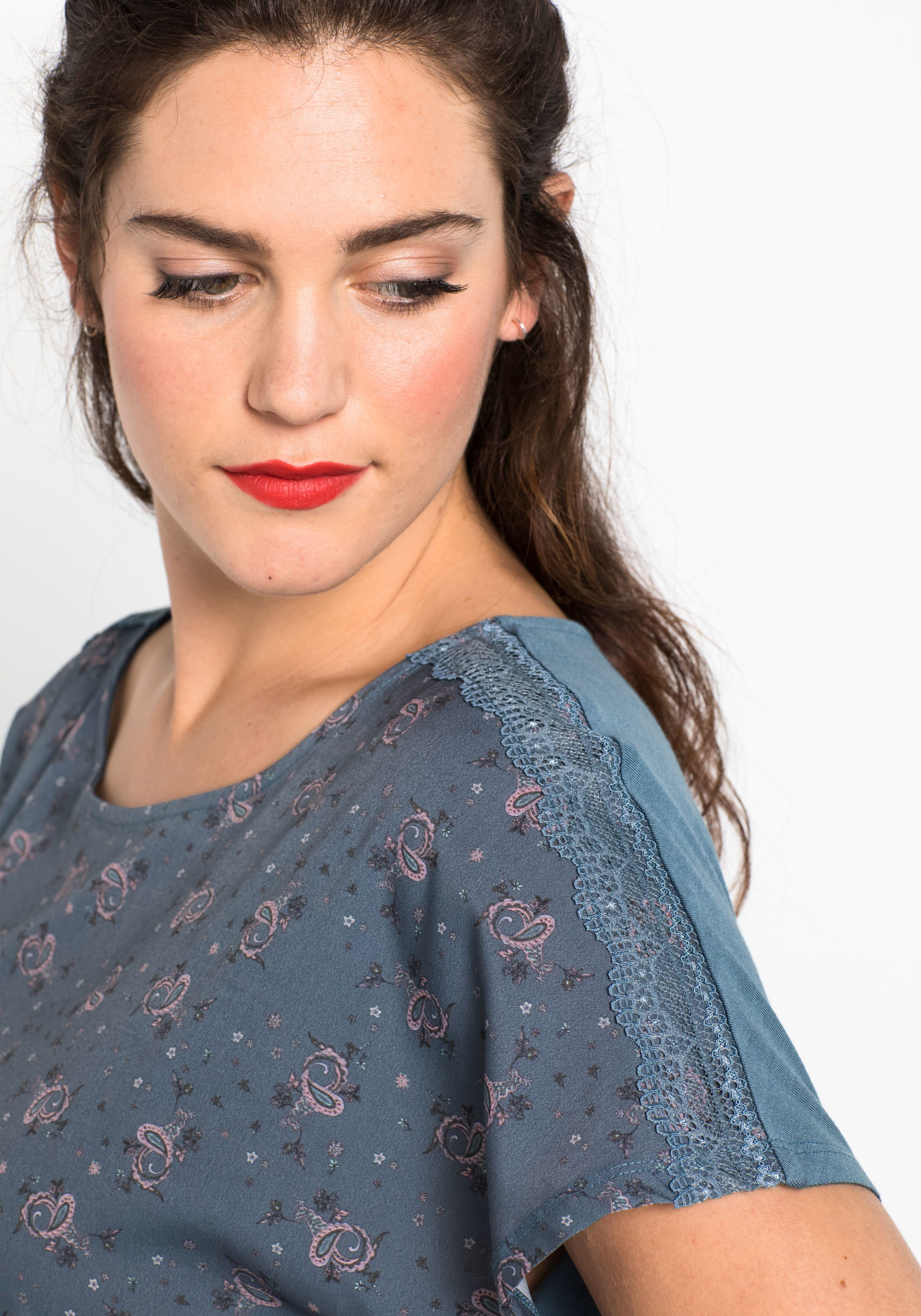 Sheego shirt Online Materialmix T Kaufen N0m8nw
