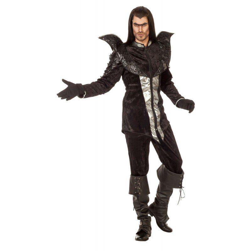 Unisex Schwarzer Vampir Halloween Herrenkostüm bunt,  mehrfarbig | 08714438583012
