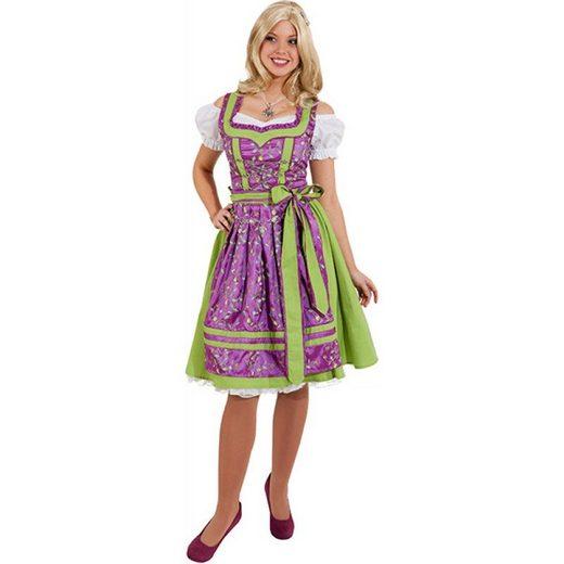 Dirndl Emilia fuchsia-hellgrün
