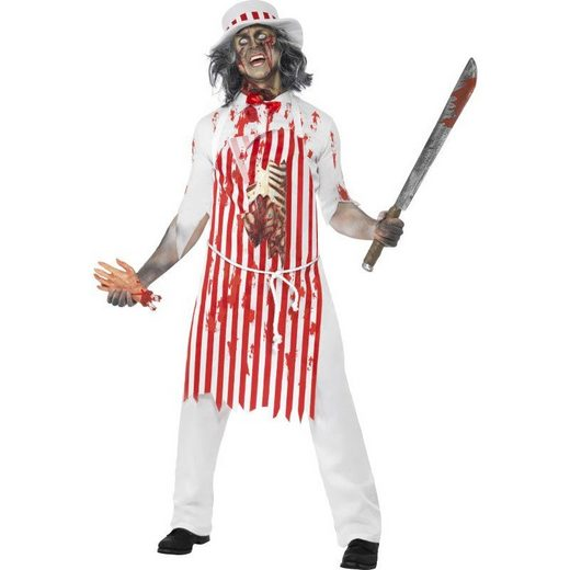 Horror Zombie Fleischer Koch Kostüm