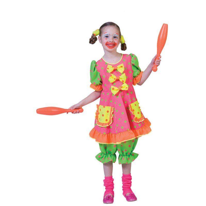 Buntes Clownskostüm Flori für Kinder