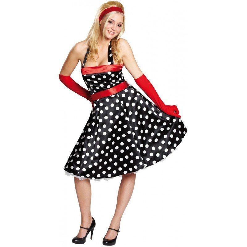 50er Jahre Kleid Kost U00fcm F U00fcr Damen  Aufreizendes Dekollet U00e9