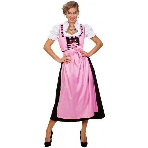Dirndl Kostüm Madlen rosa-schwarz