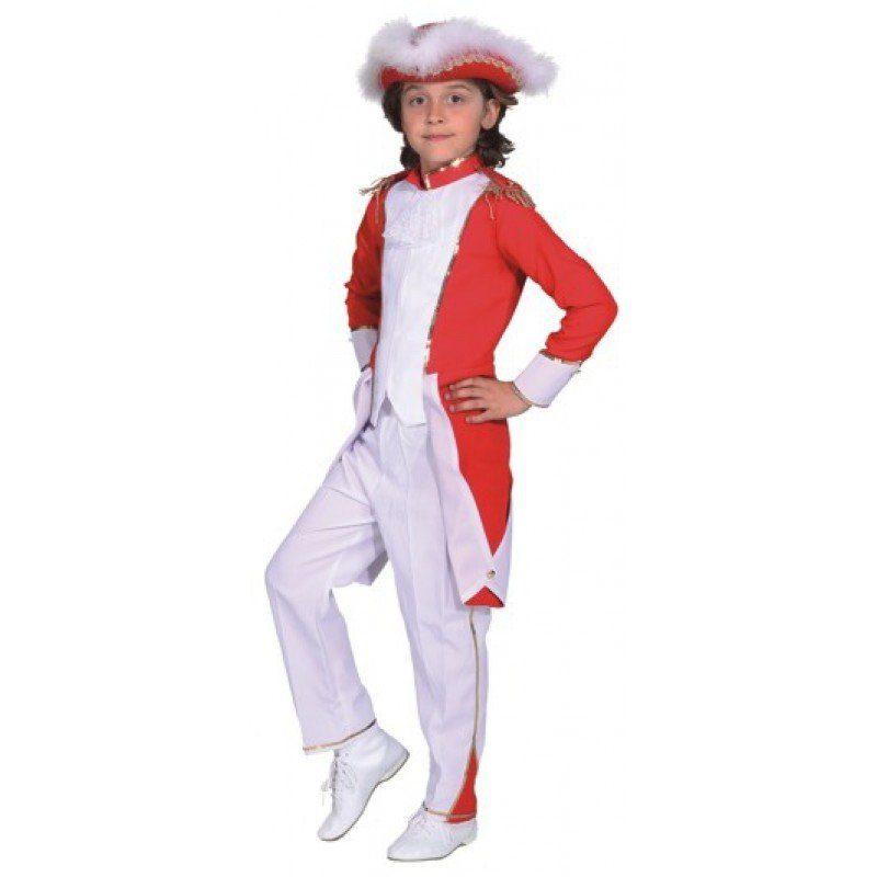 Gardemajor Kinderkostüm rot