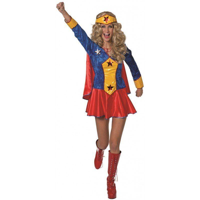 Wondergirl Superheldin Damenkostüm