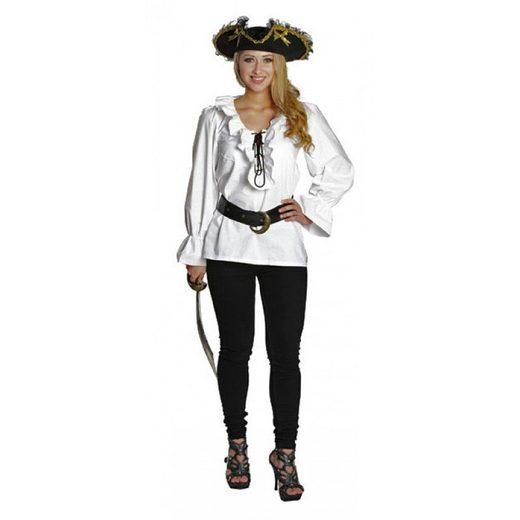Piratenbluse weiß für Damen